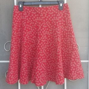 Zara TRF pleated circle skirt